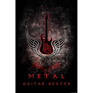 AFFICHE - POSTER Poster Guitares - Guitar Heaven, Metal (91 x 61 cm