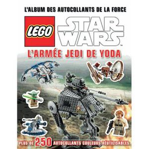LIVRE JEUX ACTIVITÉS L'album des autocollants de la force Lego Star War