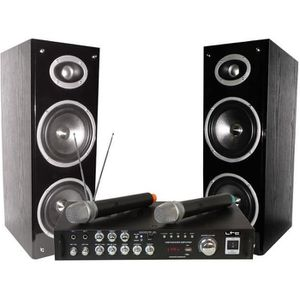 LTC AUDIO KARAOKE-STAR3-WM Ensemble Karaoké avec afficheur digital et 2 micros VHF - Bluetooth