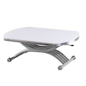 TABLE BASSE Table relevable Lenny - Blanc