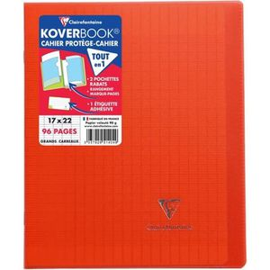 CAHIER CLAIREFONTAINE - Cahier piqûre avec rabats KOVERBO