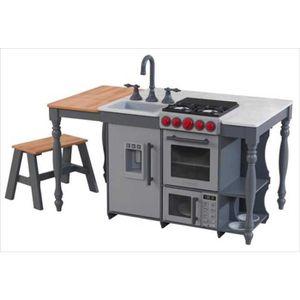 DINETTE - CUISINE Ilot de cuisine - dinette en bois interactive pour