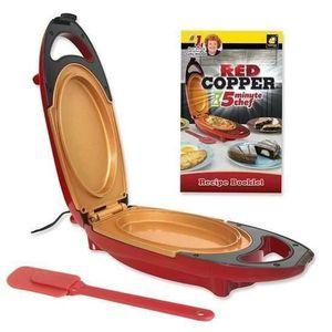 PLAQUE ÉLECTRIQUE  5 Minute Chef - Red Copper Casserole de cuisson él