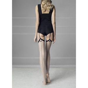 BAS - MIS-BAS FIORE  Bas Couture Plumetis GOSSIP - Couleur ::Lin