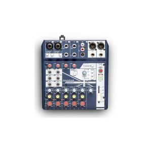SURFACE DE CONTRÔLE SOUNDCRAFT NOTEPAD-8FX. Table de mixage avec usb e