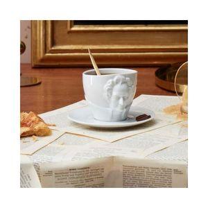 BOL - MUG - MAZAGRAN Set tasse et sous-tasse Goethe - Tassen Blanc