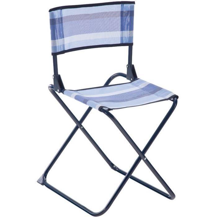 EREDU Chaise pliante acier - Bleu