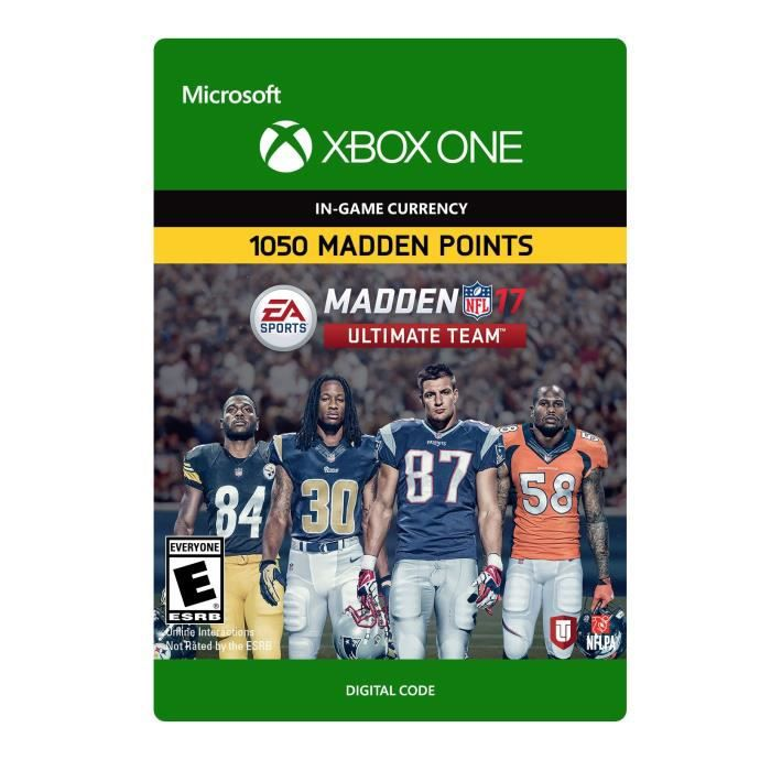 DLC Madden NFL 17: 1050 Madden Points pour Xbox One