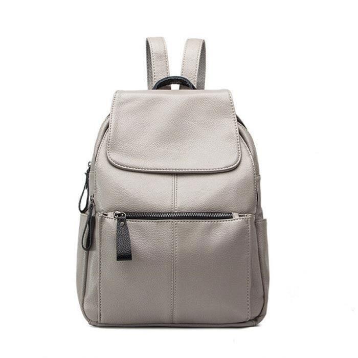 sac à main sac a dossac voyages souple qualité supérieure sac en cuir italien luxury designer gris high quality famous brand