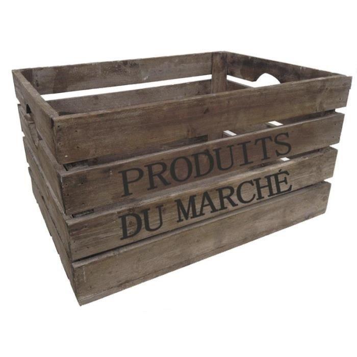 caisse en bois vieilli produits du march achat vente casier pour meuble bois cdiscount. Black Bedroom Furniture Sets. Home Design Ideas