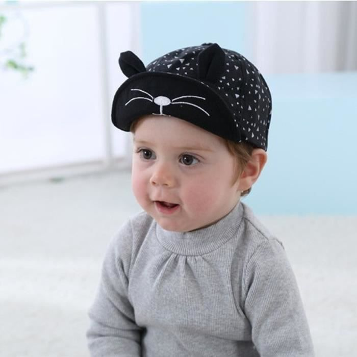 buying new 50% price timeless design Casquette noire pour fille