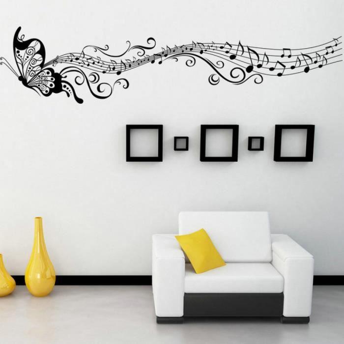 1 Pc Art Mural Maison Decoration Mur Chambre Papillon Notes De ...
