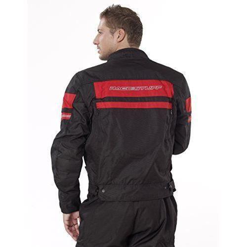 NERVE 1511150401_03 Move Blouson Moto d`Eté Textile Membrane, NoirRouge, Taille : M
