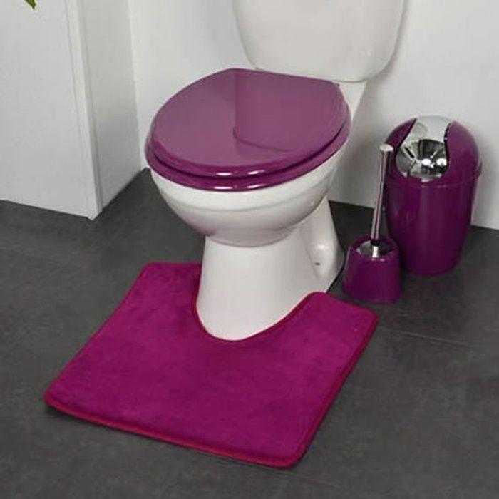 tapis contour wc design violet achat vente tapis de bain cdiscount. Black Bedroom Furniture Sets. Home Design Ideas