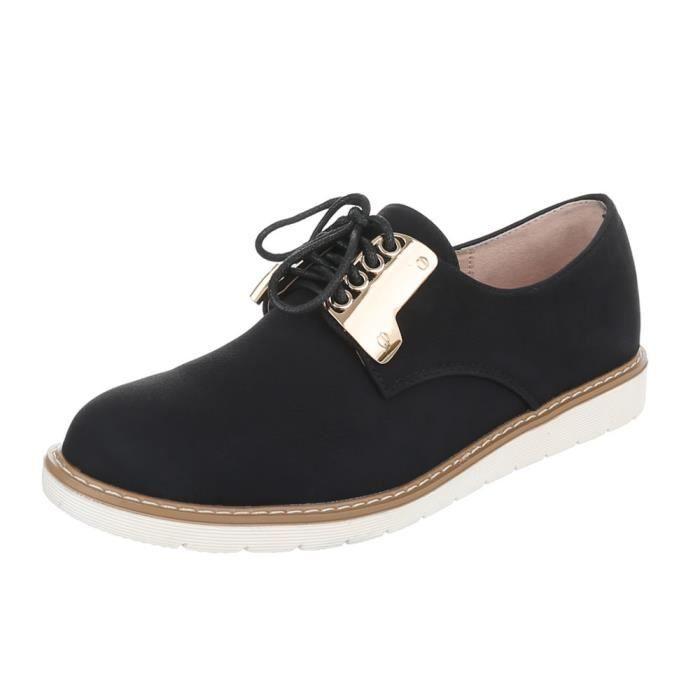 Laceter Argent Noir Femme Chaussures neurs noir 40 rose Fl qwn1nUBzt