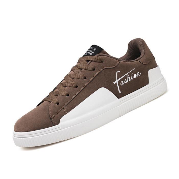 Sneaker Homme Mode Meilleure Qualité Nouvelle Classique Sneakers Mode Marque De Luxe Simple Chaussure Antidérapant Beau Doux 39-44 Marron Marron - Achat / Vente basket  - Soldes* dès le 27 juin ! Cdiscount