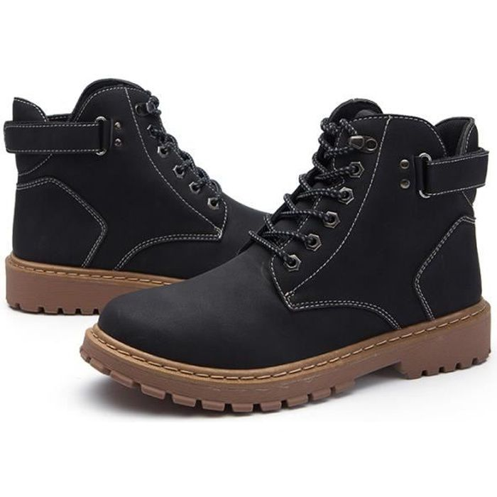 Matin bottines homme boots d'outillage Mode Casual loisirs Antidérapant Chaussure Marron & Noir ZX XZ3040