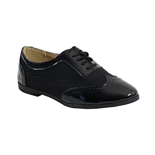 By Shoes - Chaussure Plate Style Derby - Femme Noir Noir - Achat ... 4b6b27f40f3