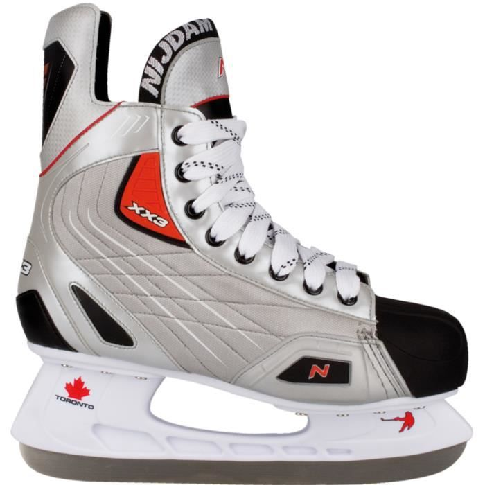 PATIN À GLACE Nijdam patins de hockey sur glace polyester taille
