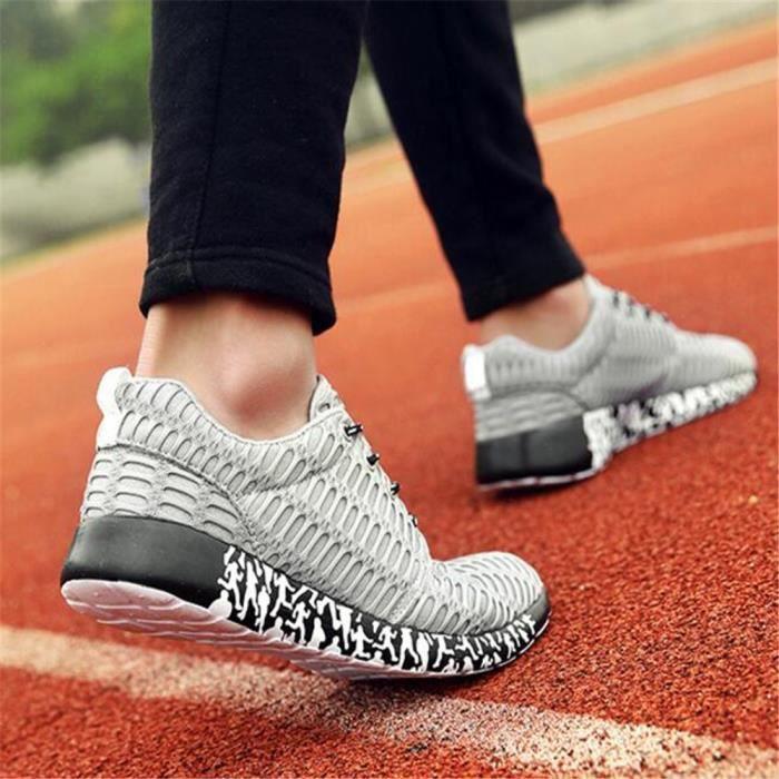 Basket Mode Hommes Antidérapant Chaussures de course de sport Respirant Chaussure pour homme Marque De Luxe lu dssx247gris47 pBnOwJN