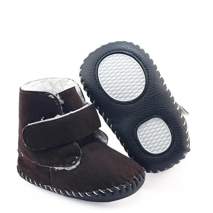 BOTTE Bébé Bébé Filles Garçons Bottes Bottes Semelle Souple Pré-Marcheur Chaud Chaussures@Café