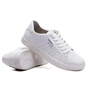 Chaussures De Sport Pour Hommes En Cuir Basket Classique LKG-XZ128Blanc44 mYflWmFbhz