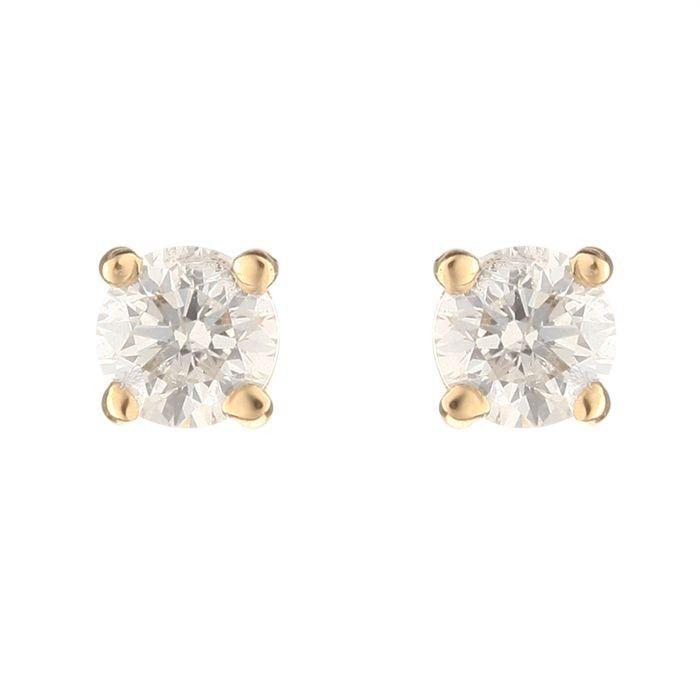 MONTE CARLO STAR Boucles d'oreilles Or Jaune 750° et Diamants 0.50 cts Femme