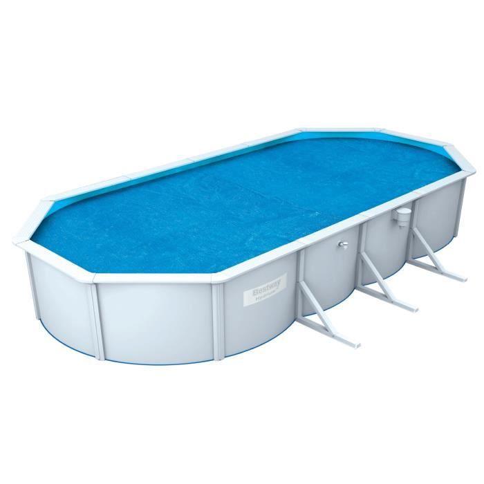 BESTWAY Bâche solaire pour Steel Wall Pool ovale 500x360x120cm - 490x350cm