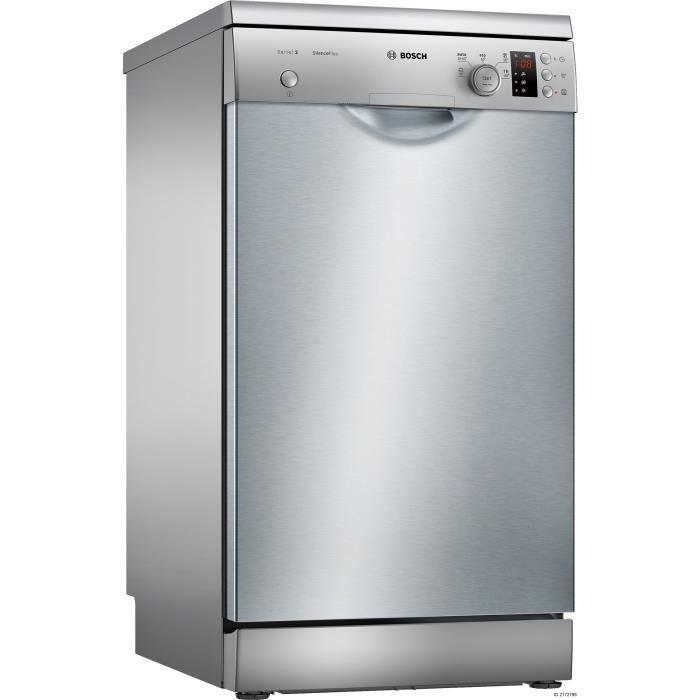 BOSCH SPS25CI04E -  Lave vaisselle posable - 9 couverts - 46 dB - A + - Larg 45 cm - Inox - Moteur i