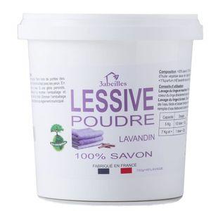 LESSIVE 3 ABEILLES Lessive poudre - Lavandin - Sans additi