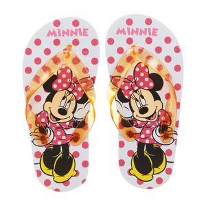 TONG MINNIE Tongs Rouge Enfant Fille