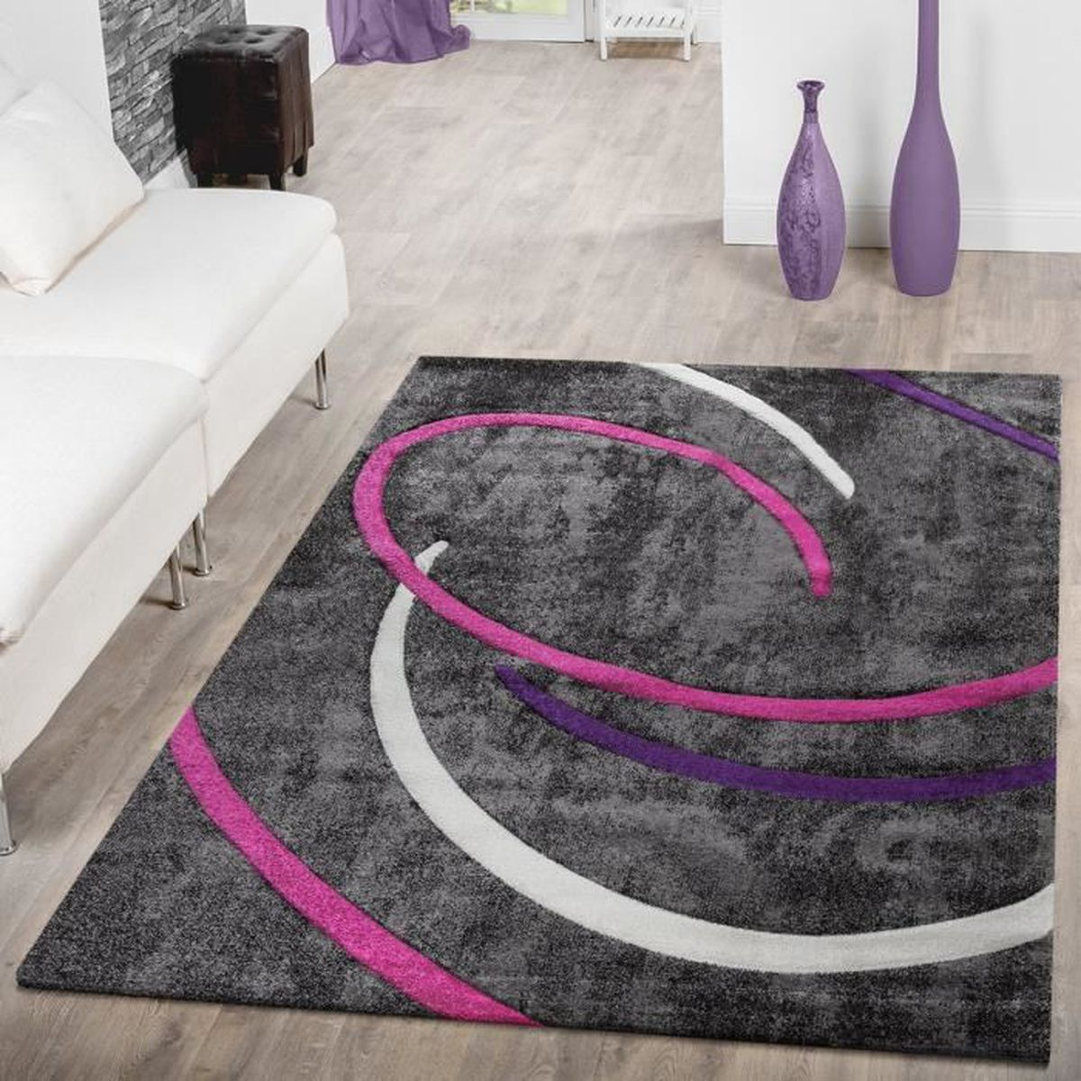 awesome tapis salon gris violet ideas awesome interior