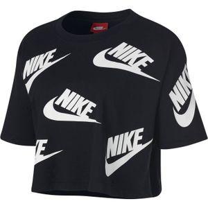 T-SHIRT MAILLOT DE SPORT NIKE T-shirt Nsw Futura To - Femme - Noir et blanc