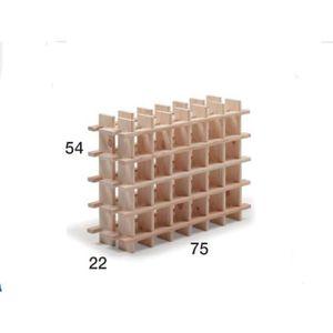 MEUBLE CLASSEMENT Solide casier à vin de pin, épaisseur 17 mm, capac