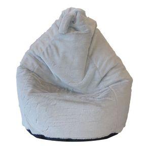 POUF - POIRE Poire Lisa en fausse fourrure Ø70xh100 cm grise