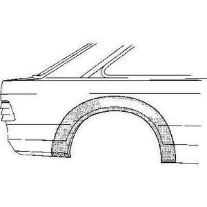 KIT CARROSSERIE Arc d'aile arrière droite 4 portes pour Ford Escor