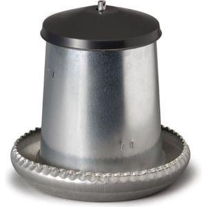 MANGEOIRE - TRÉMIE Mangeoire Galva Silo 5kg + Couvercle