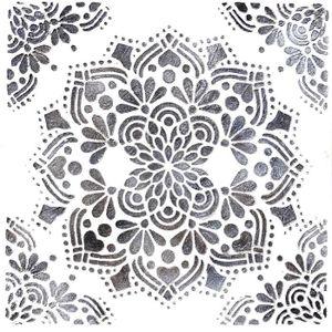 TABLEAU - TOILE Toile peinte relief Fleur - Tons gris fond blanc -