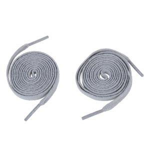 LACET  Une paire de Lacets a chaussure plats gris