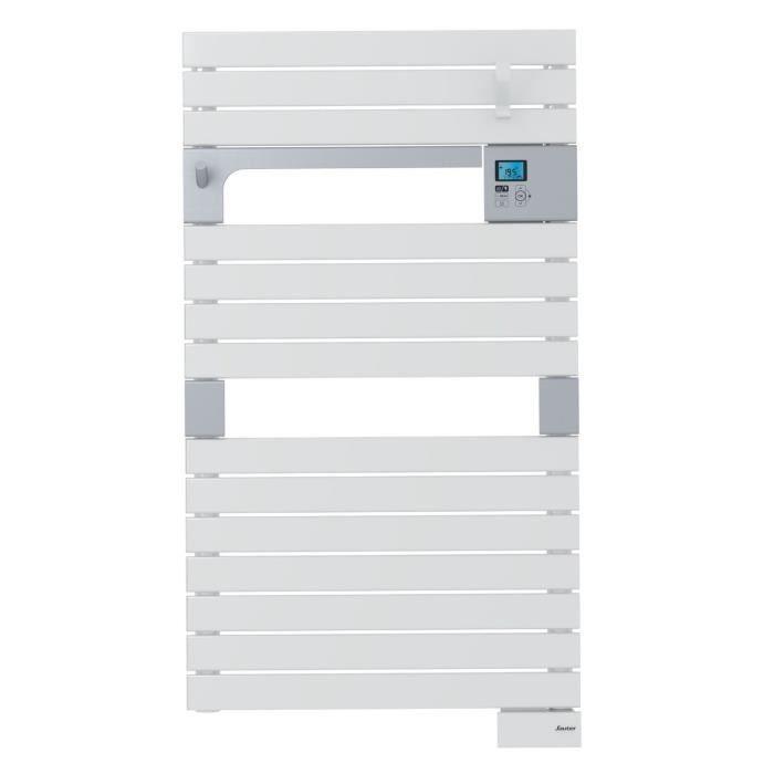 SAUTER Asama Radiateur Sèche-serviettes électrique - 500 watts - LCD - Programmable - Barres plates