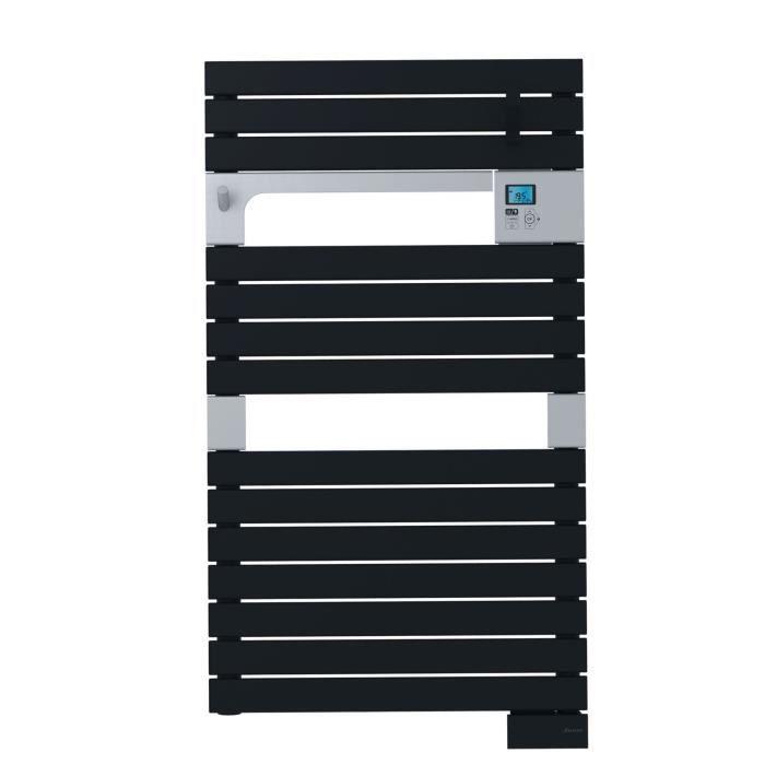 SAUTER Asama Radiateur Sèche-serviettes électrique - 500 watts - LCD - Programmable - Barres plates - Noir anthracite