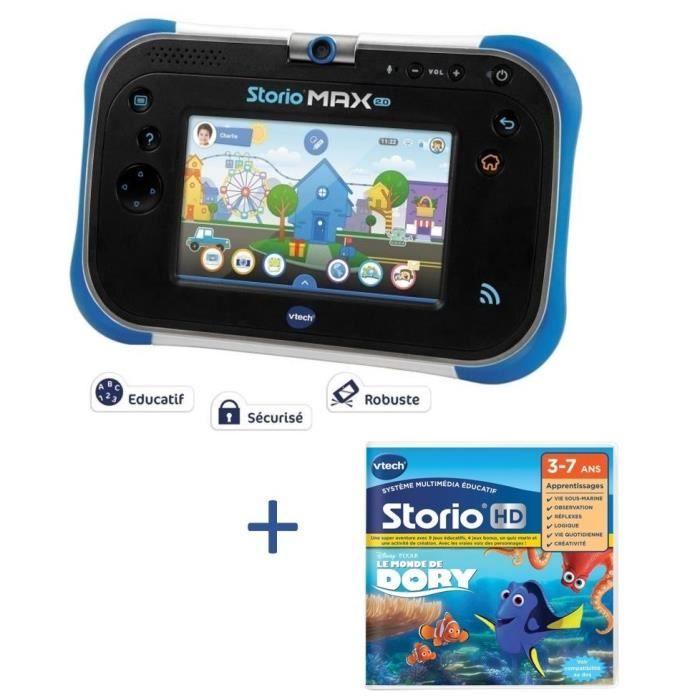 VTECH - Tablette STORIO MAX 2.0 bleue & Jeu Le monde de Dory
