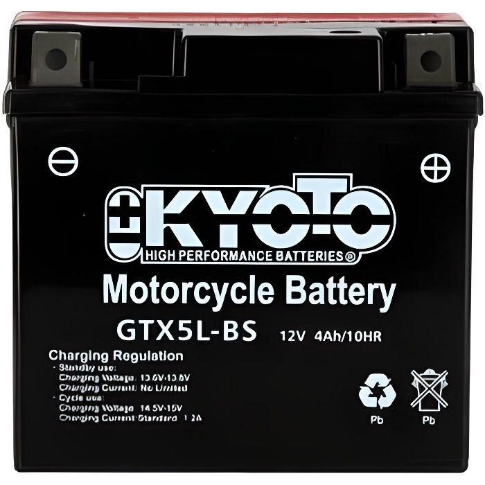 KYOTO - BATTERIE - Ytx5l-bs - L 114mm W 71mm H 106mm Batterie Kyoto pour Moto & Quad.BATTERIE VEHICULE