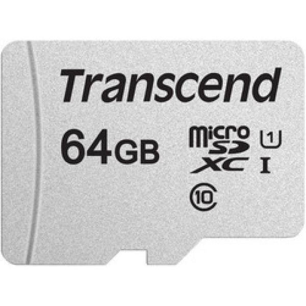 TRANSCEND Carte mémoire flash 300S - 65 Go - UHS-I U1 / Class10 - Micro SDXC