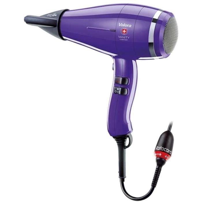 VALERA - Vanity Comfort Violet - SECHE CHEVEUX PRO 2000 W - SILENCIEUX - LEGER - PUISSANT