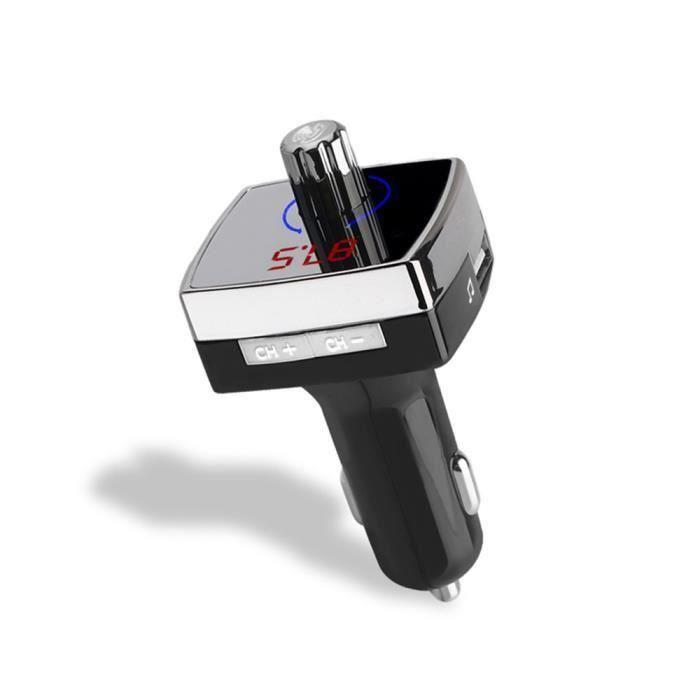 AIHONTAI® Lecteur de musique Bluetooth Transmetteur FM Modulateur 3.1A Chargeur de voiture double USB AUX OUT ID504