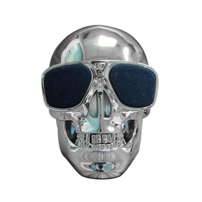 Haut-parleur Mobile Subwoofer De Bluetooth Forme Sans Fil Crâne En Plastique A1369nwdd70727281sl