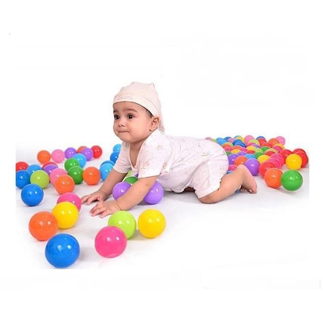 BALLES PISCINE À BALLES 8cm Balles Colorées de Piscine Pour Enfant Bébé Oc