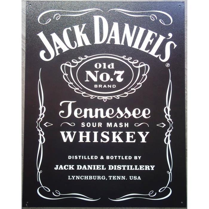 Plaque pub jack daniels noire whisky usa - Achat / Vente tableau ...