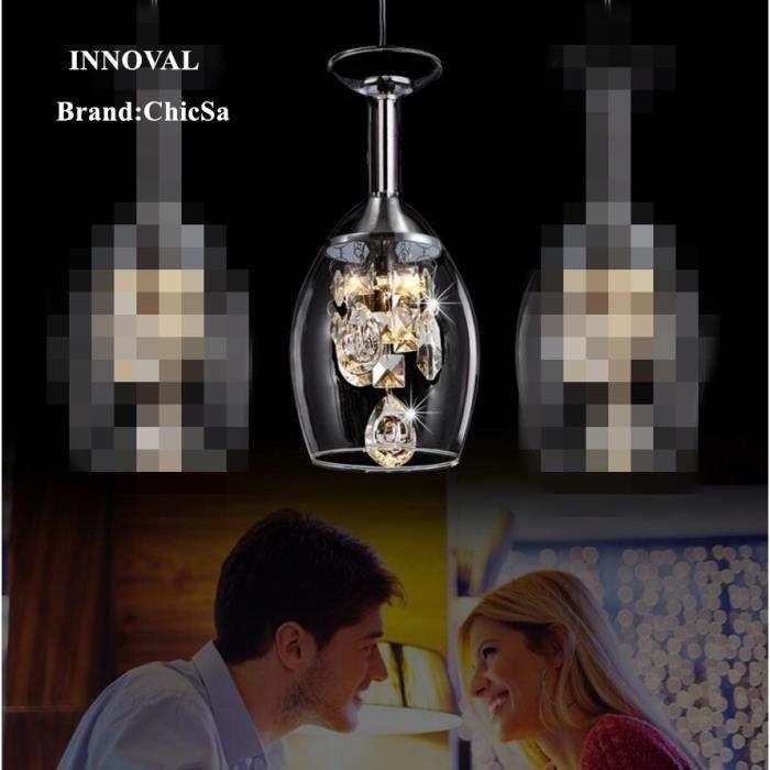 1 pièce moderne créatif lustre en verre de vin mode crystal désign salle à manger lustre diamètre15cm